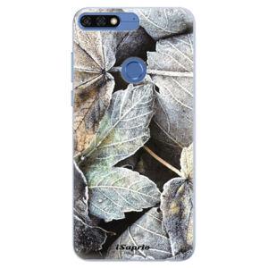 Silikonové pouzdro iSaprio - Old Leaves 01 - Huawei Honor 7C