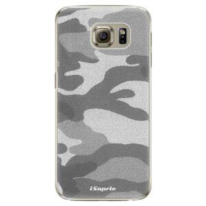 Plastové pouzdro iSaprio - Gray Camuflage 02 - Samsung Galaxy S6 Edge