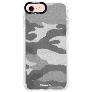 Silikonové pouzdro Bumper iSaprio - Gray Camuflage 02 - iPhone 7