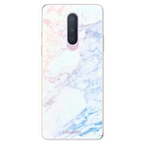 Odolné silikonové pouzdro iSaprio - Raibow Marble 10 - OnePlus 8
