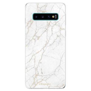 Odolné silikonové pouzdro iSaprio - GoldMarble 13 - Samsung Galaxy S10
