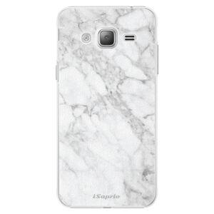 Plastové pouzdro iSaprio - SilverMarble 14 - Samsung Galaxy J3