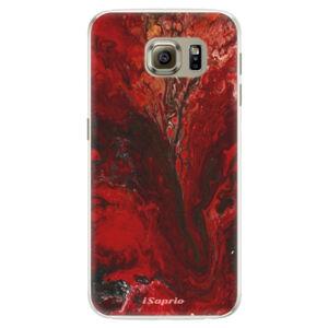 Silikonové pouzdro iSaprio - RedMarble 17 - Samsung Galaxy S6