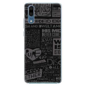 Plastové pouzdro iSaprio - Text 01 - Huawei P20