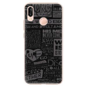 Plastové pouzdro iSaprio - Text 01 - Huawei P20 Lite