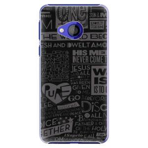 Plastové pouzdro iSaprio - Text 01 - HTC U Play