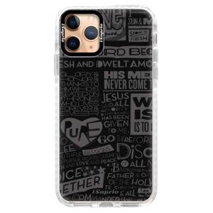 Silikonové pouzdro Bumper iSaprio - Text 01 - iPhone 11 Pro