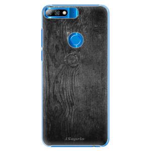 Plastové pouzdro iSaprio - Black Wood 13 - Huawei Y7 Prime 2018