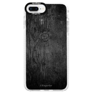 Silikonové pouzdro Bumper iSaprio - Black Wood 13 - iPhone 8 Plus