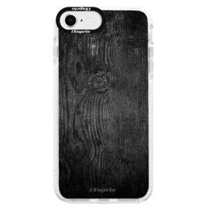 Silikonové pouzdro Bumper iSaprio - Black Wood 13 - iPhone SE 2020