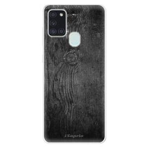 Odolné silikonové pouzdro iSaprio - Black Wood 13 - Samsung Galaxy A21s