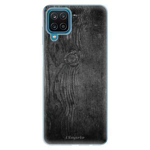 Odolné silikonové pouzdro iSaprio - Black Wood 13 - Samsung Galaxy A12