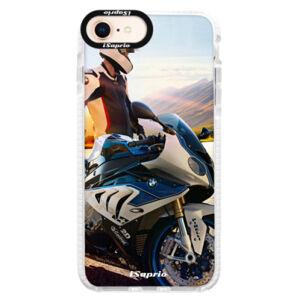 Silikonové pouzdro Bumper iSaprio - Motorcycle 10 - iPhone 8