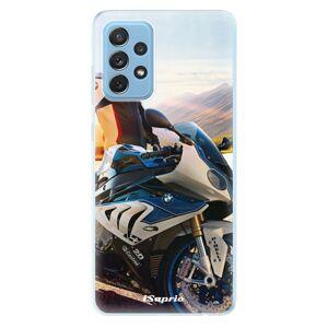 Odolné silikonové pouzdro iSaprio - Motorcycle 10 - Samsung Galaxy A72