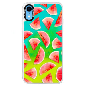 Neonové pouzdro Blue iSaprio - Melon Pattern 02 - iPhone XR