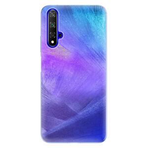 Odolné silikonové pouzdro iSaprio - Purple Feathers - Huawei Honor 20