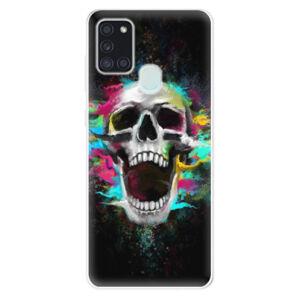 Odolné silikonové pouzdro iSaprio - Skull in Colors - Samsung Galaxy A21s