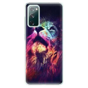 Plastové pouzdro iSaprio - Lion in Colors - Samsung Galaxy S20 FE