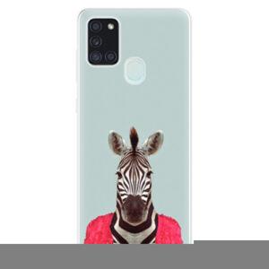 Odolné silikonové pouzdro iSaprio - Zebra 01 - Samsung Galaxy A21s