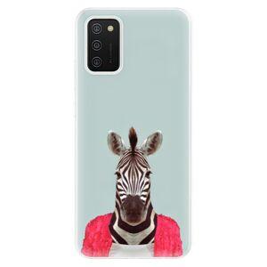 Odolné silikonové pouzdro iSaprio - Zebra 01 - Samsung Galaxy A02s