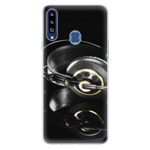 Odolné silikonové pouzdro iSaprio - Headphones 02 - Samsung Galaxy A20s