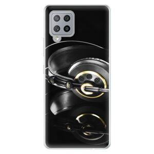 Odolné silikonové pouzdro iSaprio - Headphones 02 - Samsung Galaxy A42
