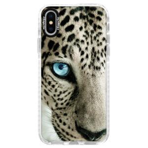 Silikonové pouzdro Bumper iSaprio - White Panther - iPhone X