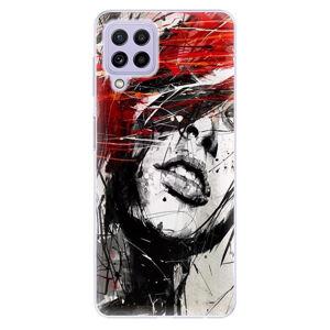 Odolné silikonové pouzdro iSaprio - Sketch Face - Samsung Galaxy A22