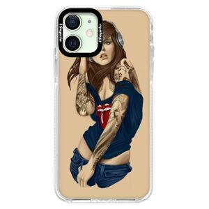 Silikonové pouzdro Bumper iSaprio - Girl 03 - iPhone 12
