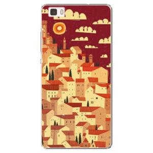 Plastové pouzdro iSaprio - Mountain City - Huawei Ascend P8 Lite