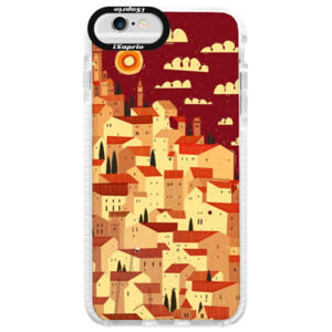 Silikonové pouzdro Bumper iSaprio - Mountain City - iPhone 6/6S