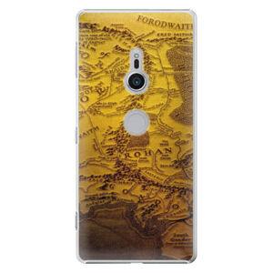 Plastové pouzdro iSaprio - Old Map - Sony Xperia XZ2