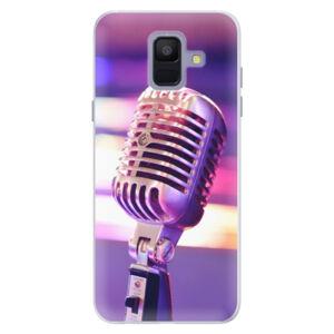 Silikonové pouzdro iSaprio - Vintage Microphone - Samsung Galaxy A6