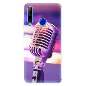 Odolné silikonové pouzdro iSaprio - Vintage Microphone - Huawei Honor 20 Lite