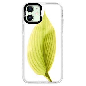 Silikonové pouzdro Bumper iSaprio - Green Leaf - iPhone 12 mini