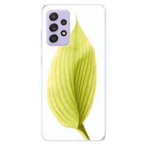 Odolné silikonové pouzdro iSaprio - Green Leaf - Samsung Galaxy A52/A52 5G