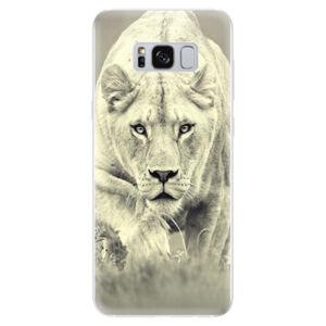 Odolné silikonové pouzdro iSaprio - Lioness 01 - Samsung Galaxy S8