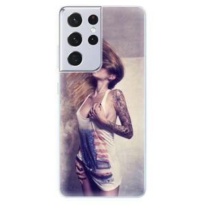 Odolné silikonové pouzdro iSaprio - Girl 01 - Samsung Galaxy S21 Ultra