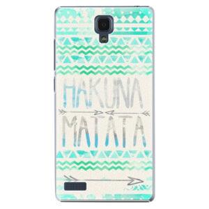 Plastové pouzdro iSaprio - Hakuna Matata Green - Xiaomi Redmi Note