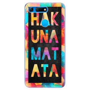 Odolné silikonové pouzdro iSaprio - Hakuna Matata 01 - Huawei Honor View 20