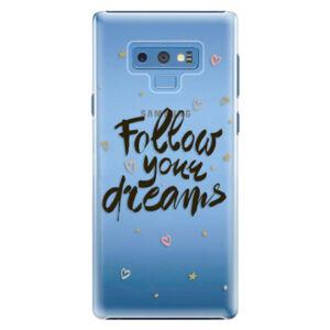 Plastové pouzdro iSaprio - Follow Your Dreams - black - Samsung Galaxy Note 9
