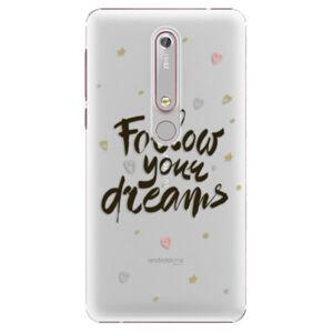 Plastové pouzdro iSaprio - Follow Your Dreams - black - Nokia 6.1