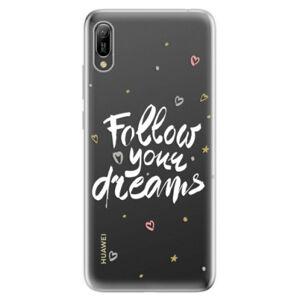Odolné silikonové pouzdro iSaprio - Follow Your Dreams - white - Huawei Y6 2019
