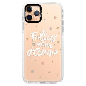 Silikonové pouzdro Bumper iSaprio - Follow Your Dreams - white - iPhone 11 Pro