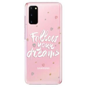 Plastové pouzdro iSaprio - Follow Your Dreams - white - Samsung Galaxy S20