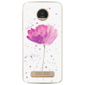 Plastové pouzdro iSaprio - Poppies - Lenovo Moto Z Play