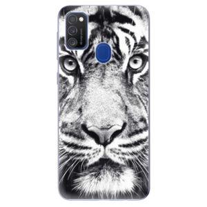 Odolné silikonové pouzdro iSaprio - Tiger Face - Samsung Galaxy M21