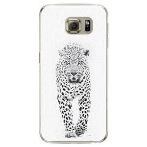 Plastové pouzdro iSaprio - White Jaguar - Samsung Galaxy S6 Edge