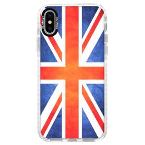 Silikonové pouzdro Bumper iSaprio - UK Flag - iPhone X