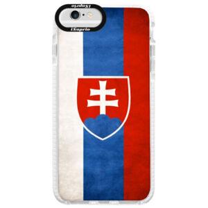 Silikonové pouzdro Bumper iSaprio - Slovakia Flag - iPhone 6/6S